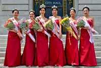 Honolulu Hawaii Cherry Blossom Queen and Court