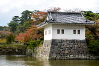 Corner turret and moat - Odawara Castle