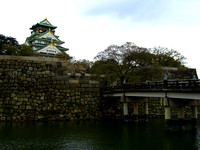 Osaka Castle and Bridge