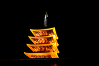 Five-storied Pagoda at night