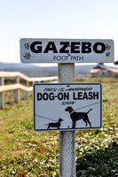 This is another dog on leash sign