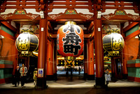 Hozomon Gate of Sensoji at Night