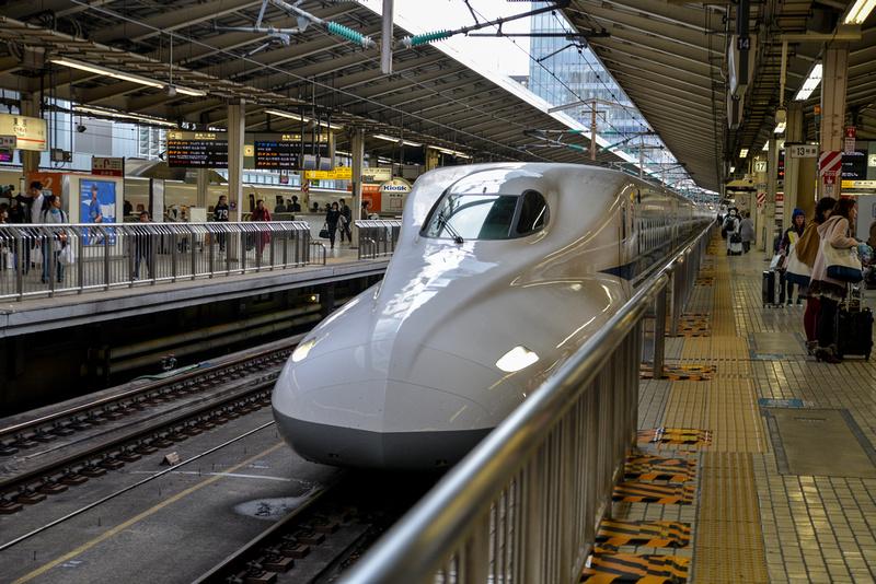 Arrival of Shinkansen