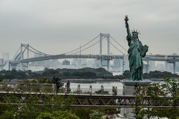 Rainbow Bridge and Statue of Liberty