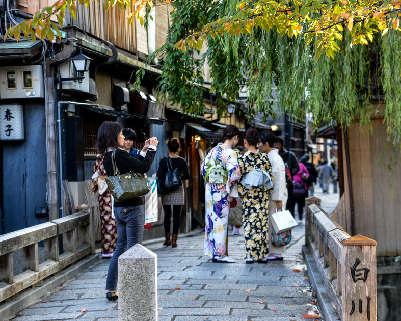 Exploring the streets of Gion, Kyoto