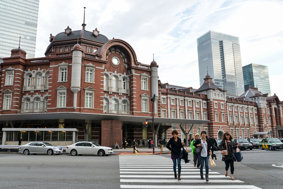 Crossing from Tokyo Station